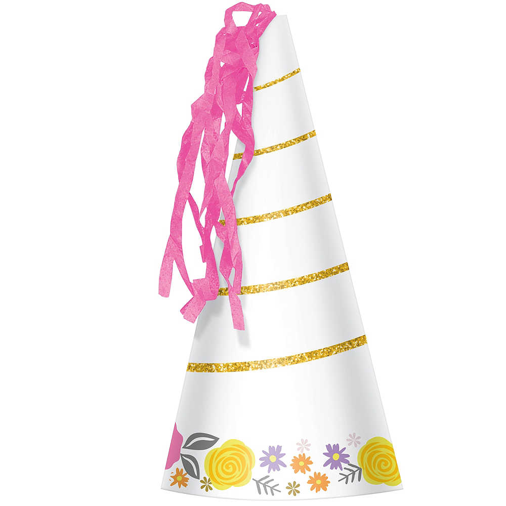 Magical Unicorn Party Hats 8ct Image #1