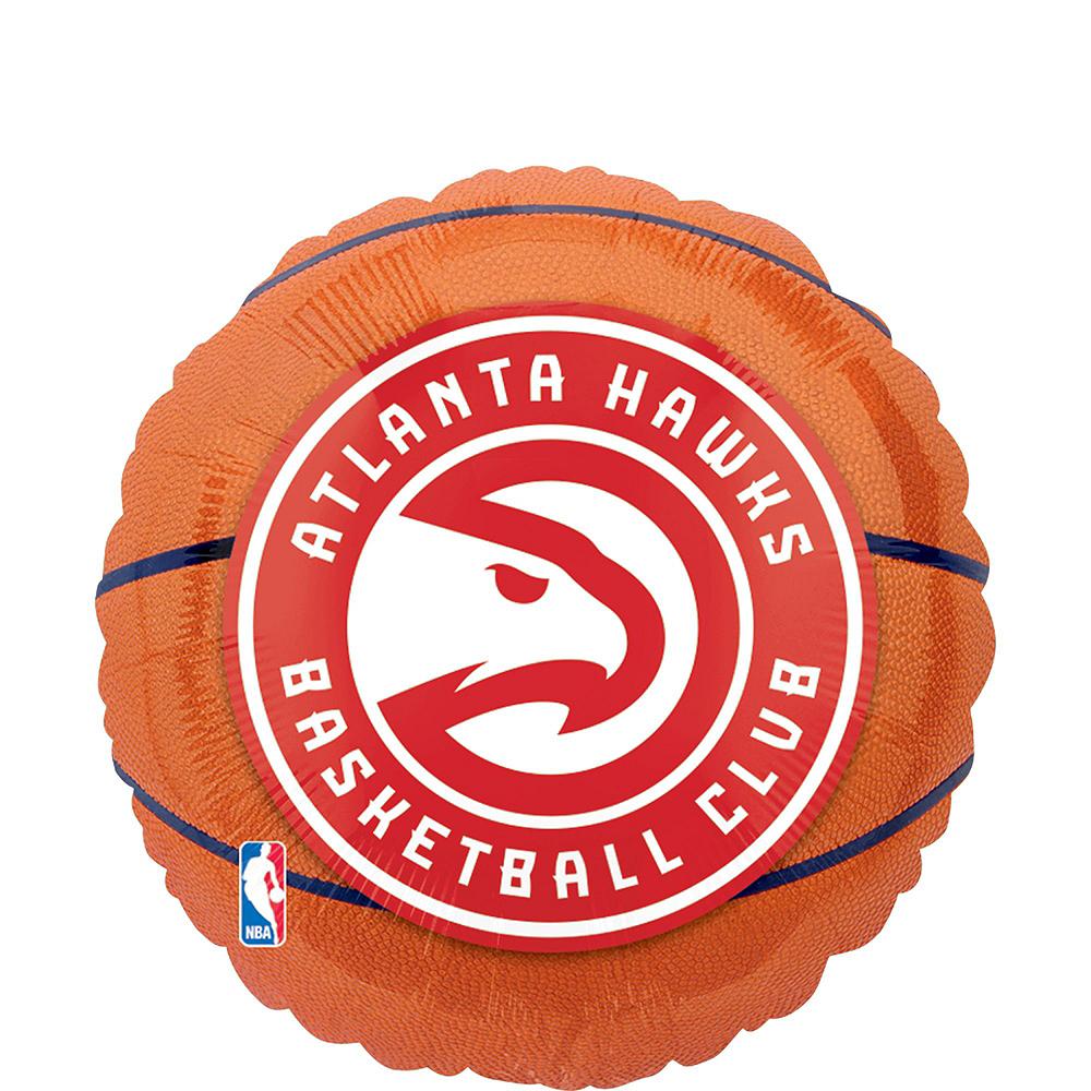 Atlanta Hawks Balloon Bouquet 5pc Image #4