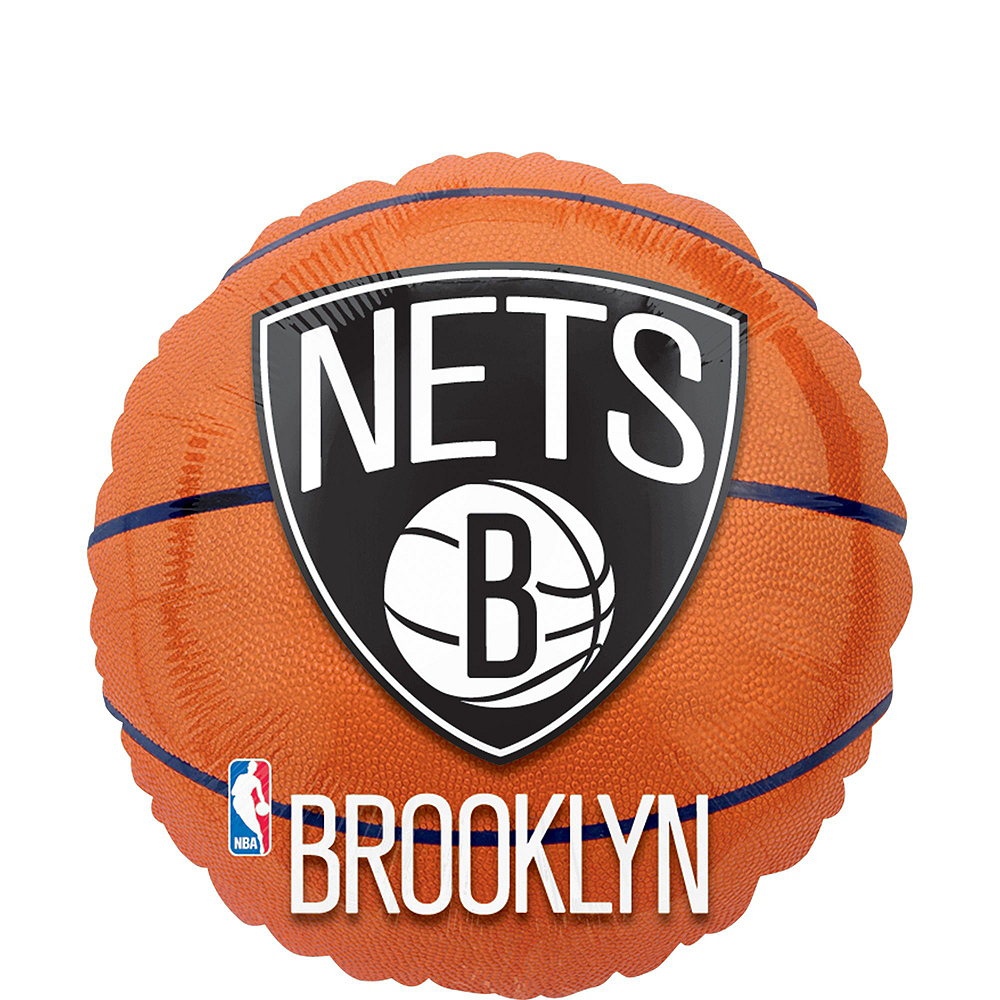 Brooklyn Nets Balloon Bouquet 5pc Image #4