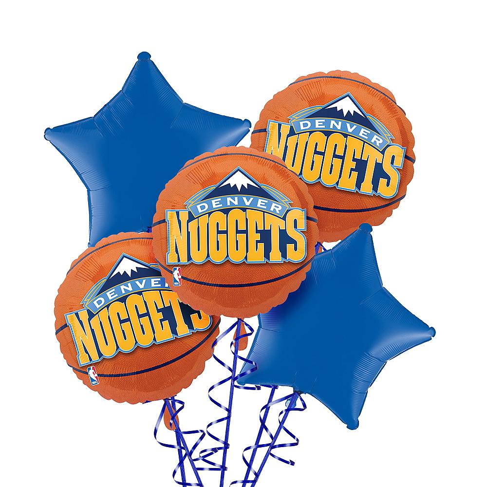 Denver Nuggets Balloon Bouquet 5pc Image #1