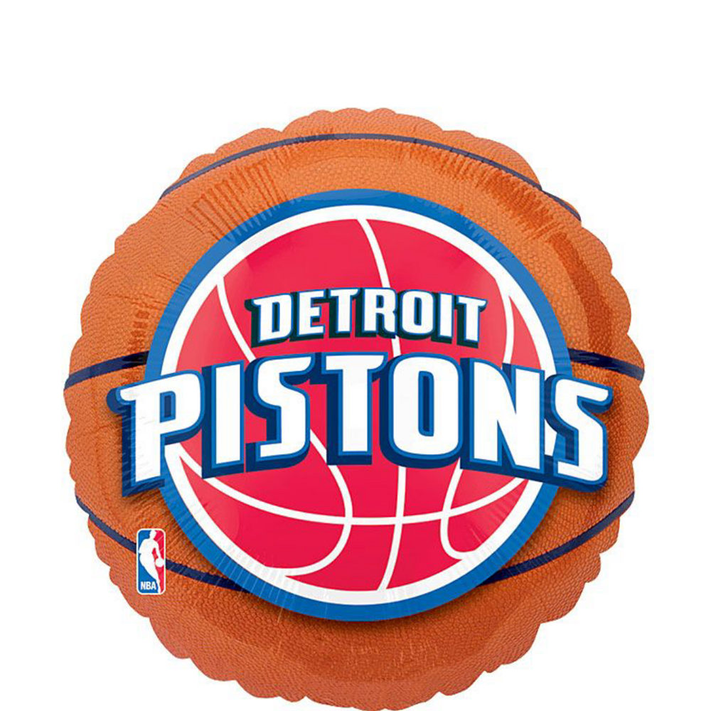 Detroit Pistons Balloon Bouquet 5pc Image #2