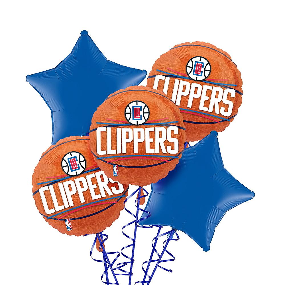 LA Clippers Balloon Bouquet 5pc Image #1