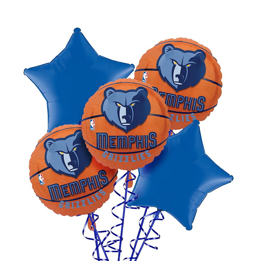 Memphis Grizzlies Balloon Bouquet 5pc Image #1