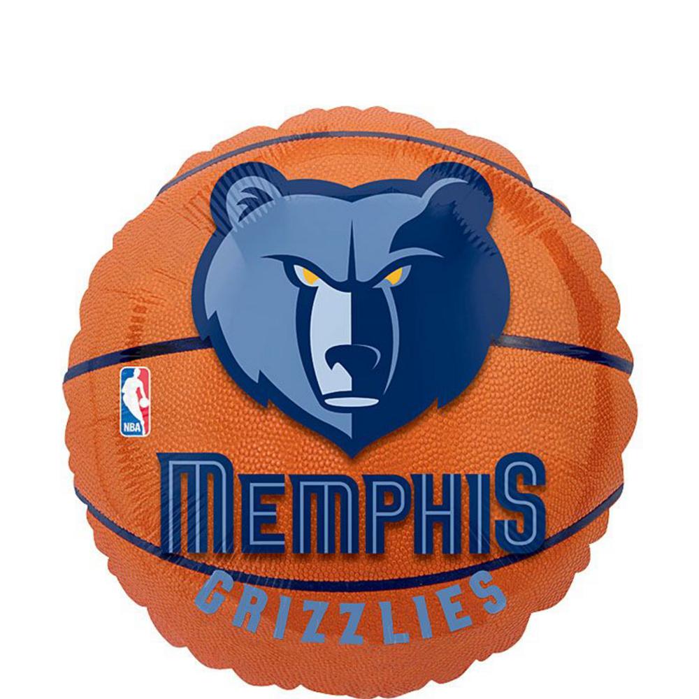 Memphis Grizzlies Balloon Bouquet 5pc Image #2