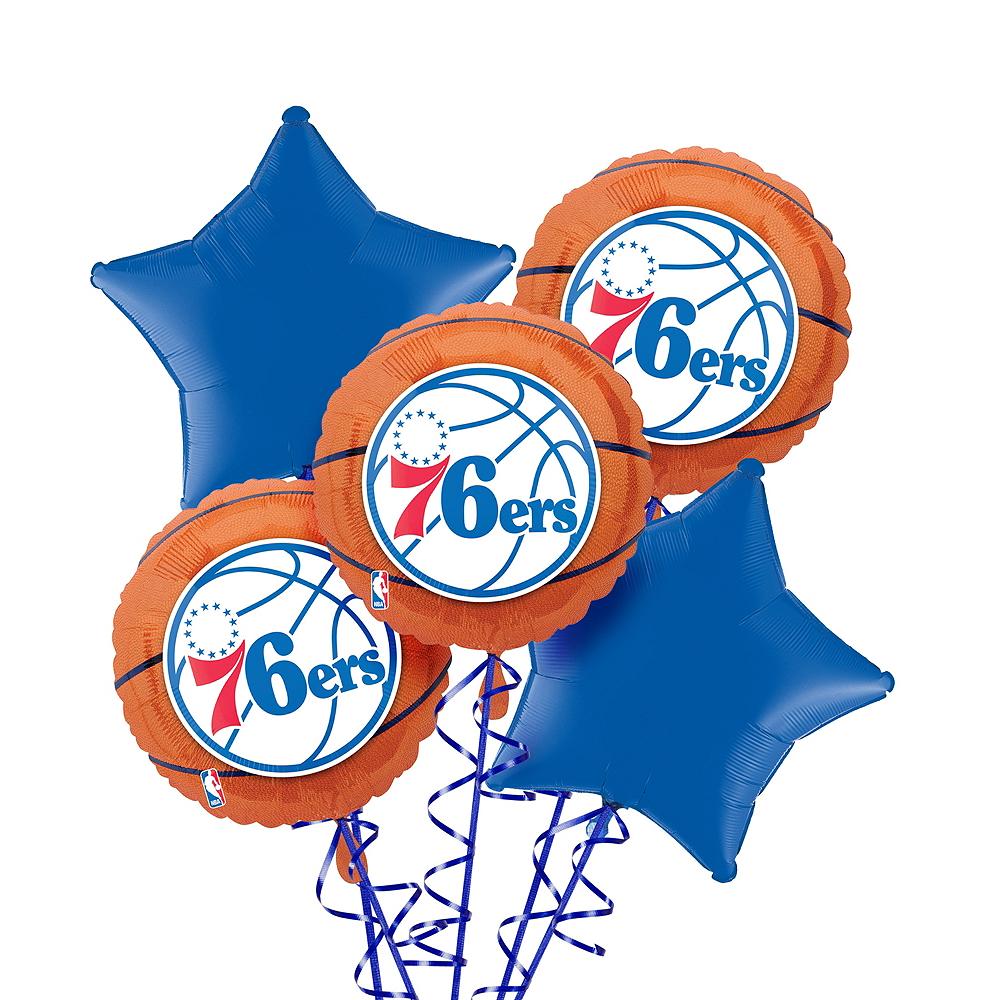 Philadelphia 76ers Balloon Bouquet 5pc Image #1