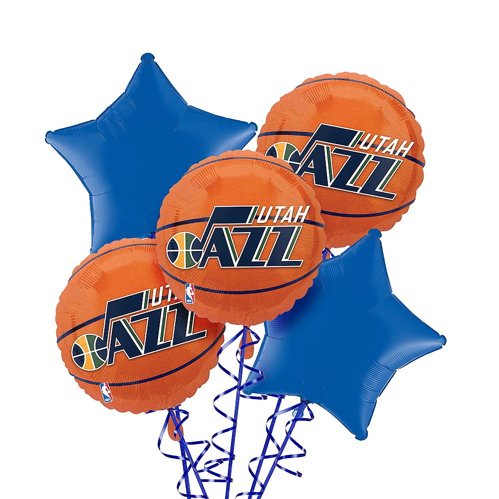 Utah Jazz Balloon Bouquet 5pc Image #1