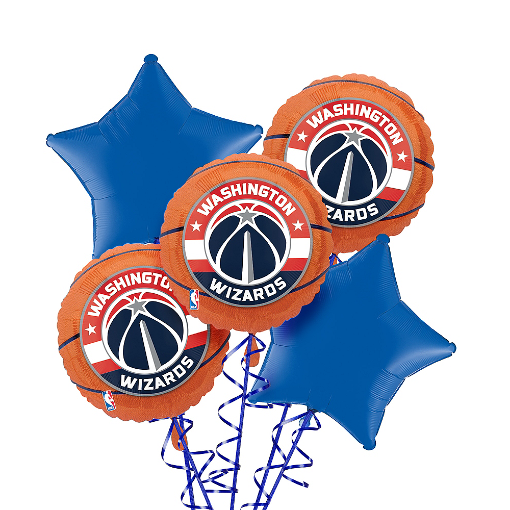 Washington Wizards Balloon Bouquet 5pc Image #1