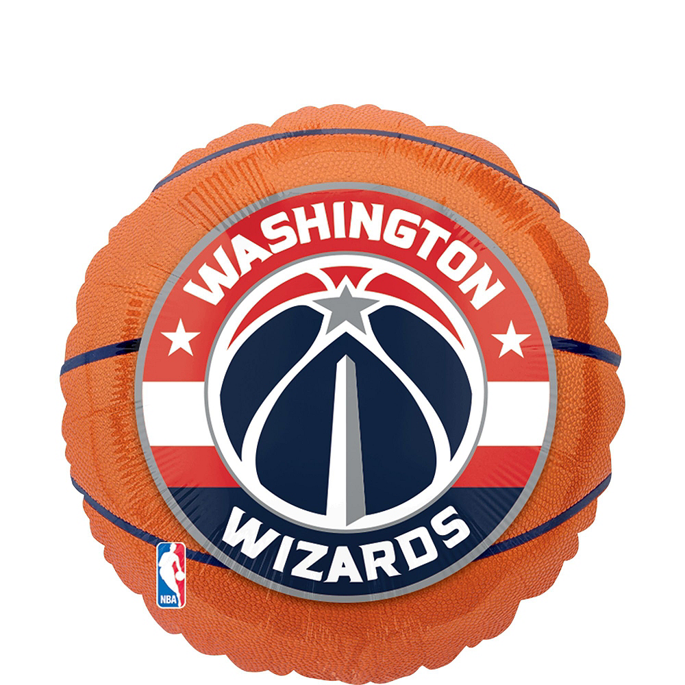 Washington Wizards Balloon Bouquet 5pc Image #4