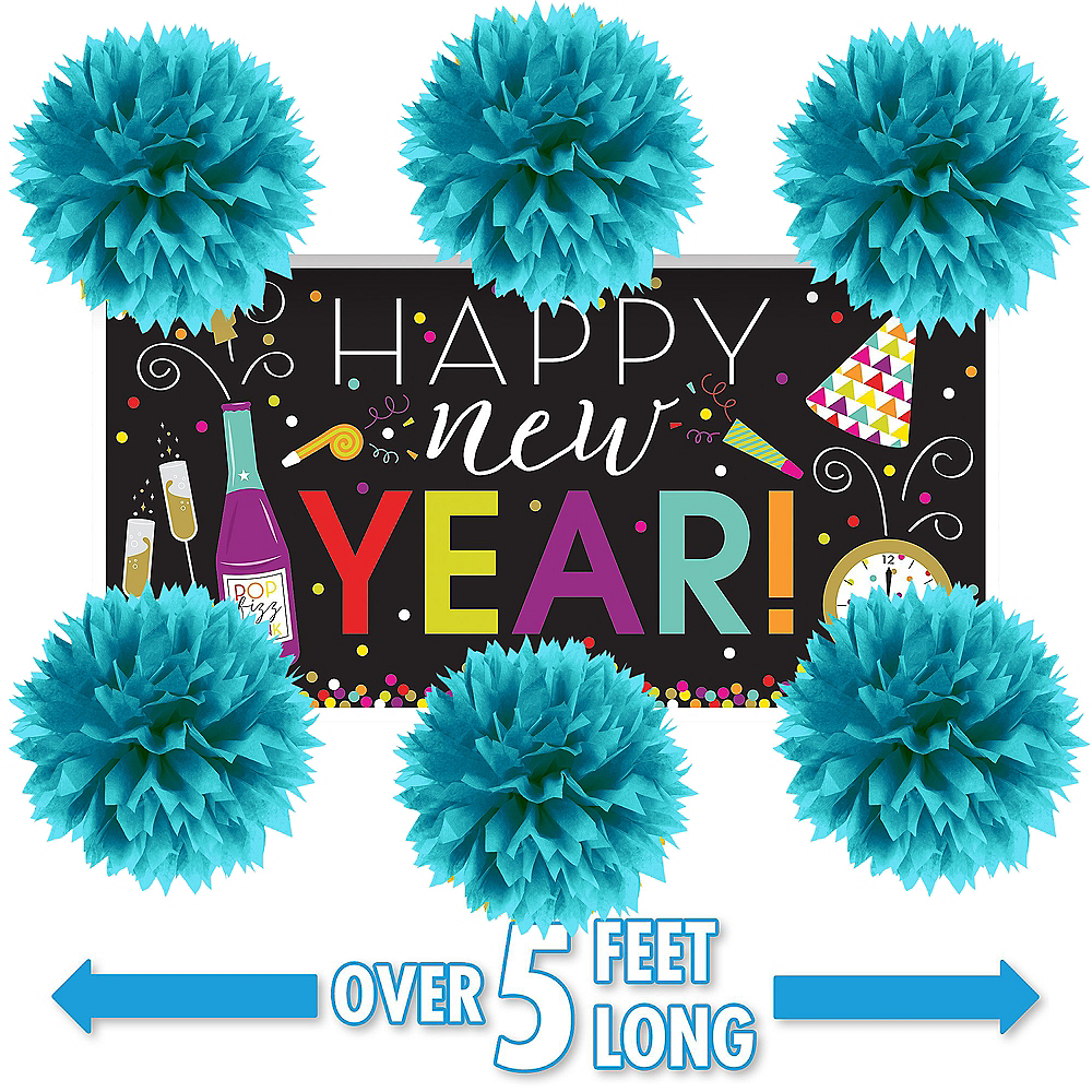 New Year's Wall Decorating Kit Image #1