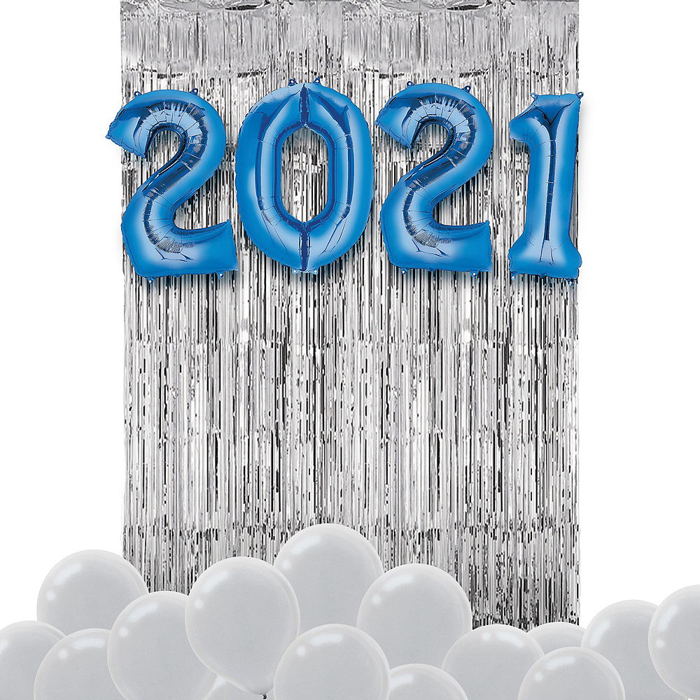 Blue New Year's 2020 Balloon Backdrop Kit Image #1
