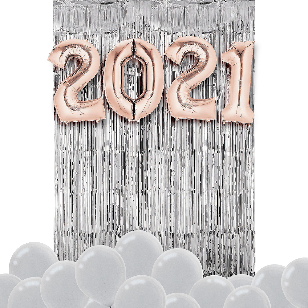 Rose Gold New Year's 2020 Balloon Backdrop Kit Image #1