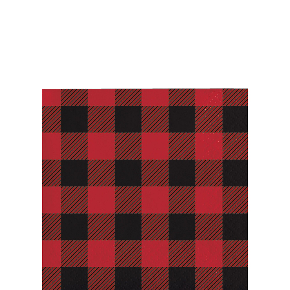 Buffalo Plaid Tableware Kit for 32 Guests Image #4
