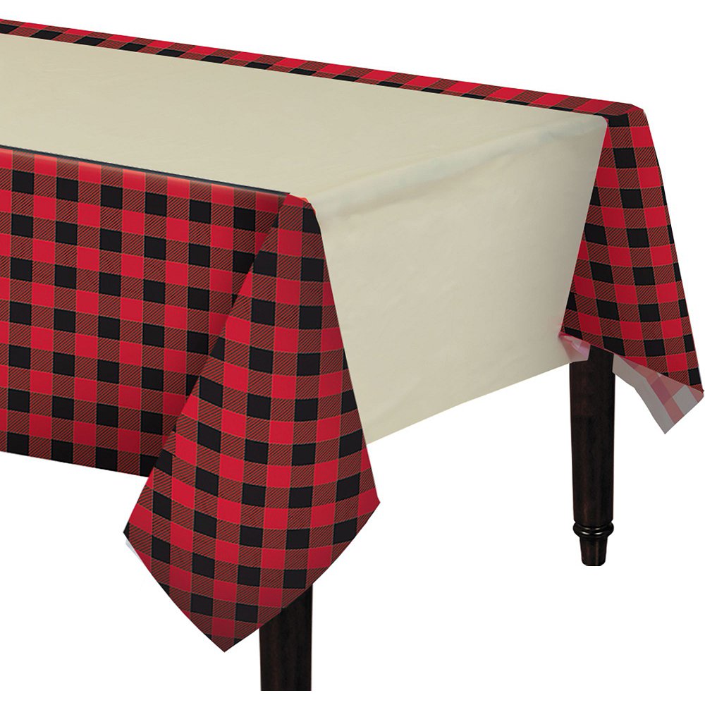 Buffalo Plaid Tableware Kit for 32 Guests Image #7