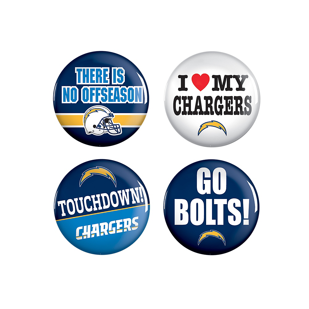 Los Angeles Chargers Buttons 4ct Image #1