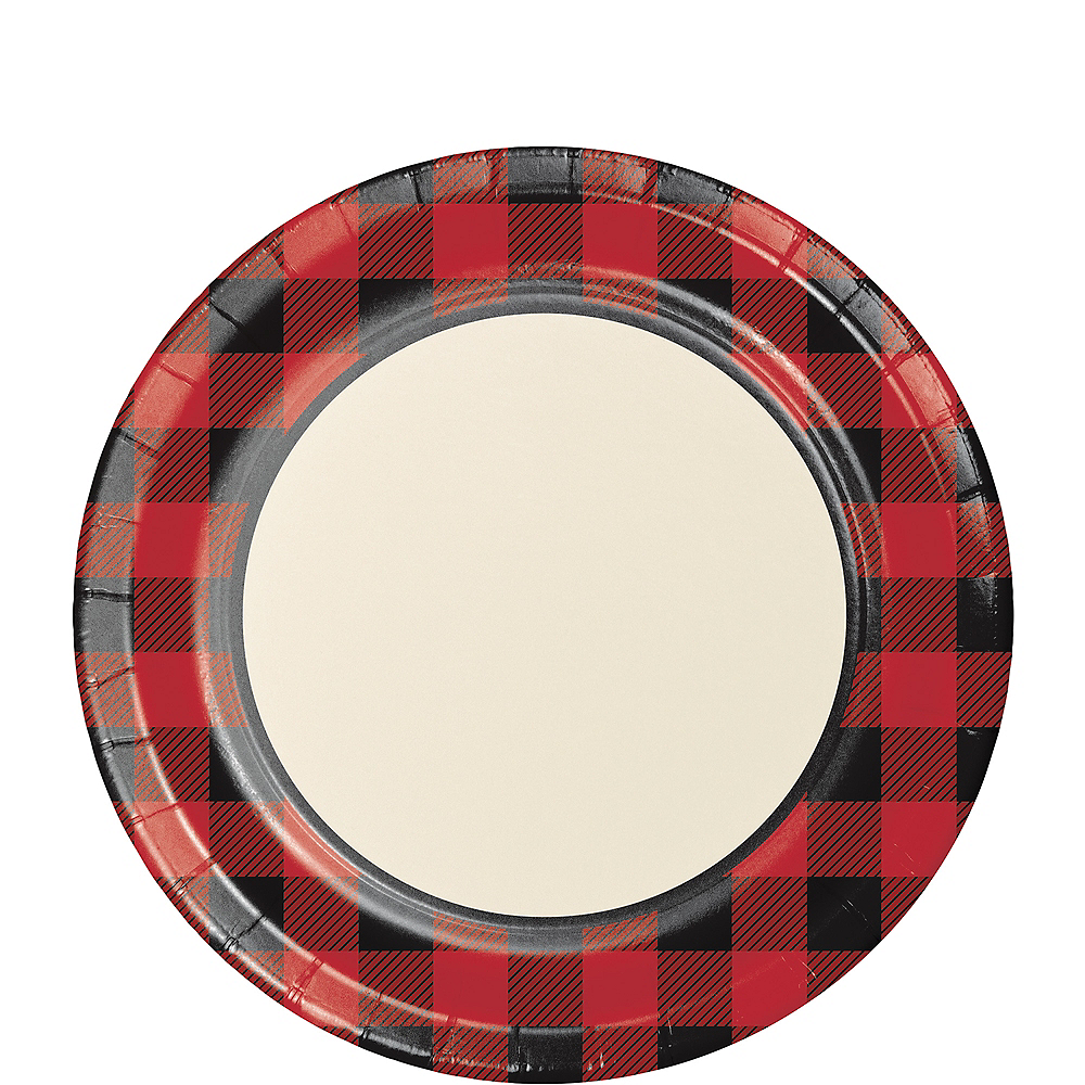 Buffalo Plaid Lunch Plates 8ct Image #1