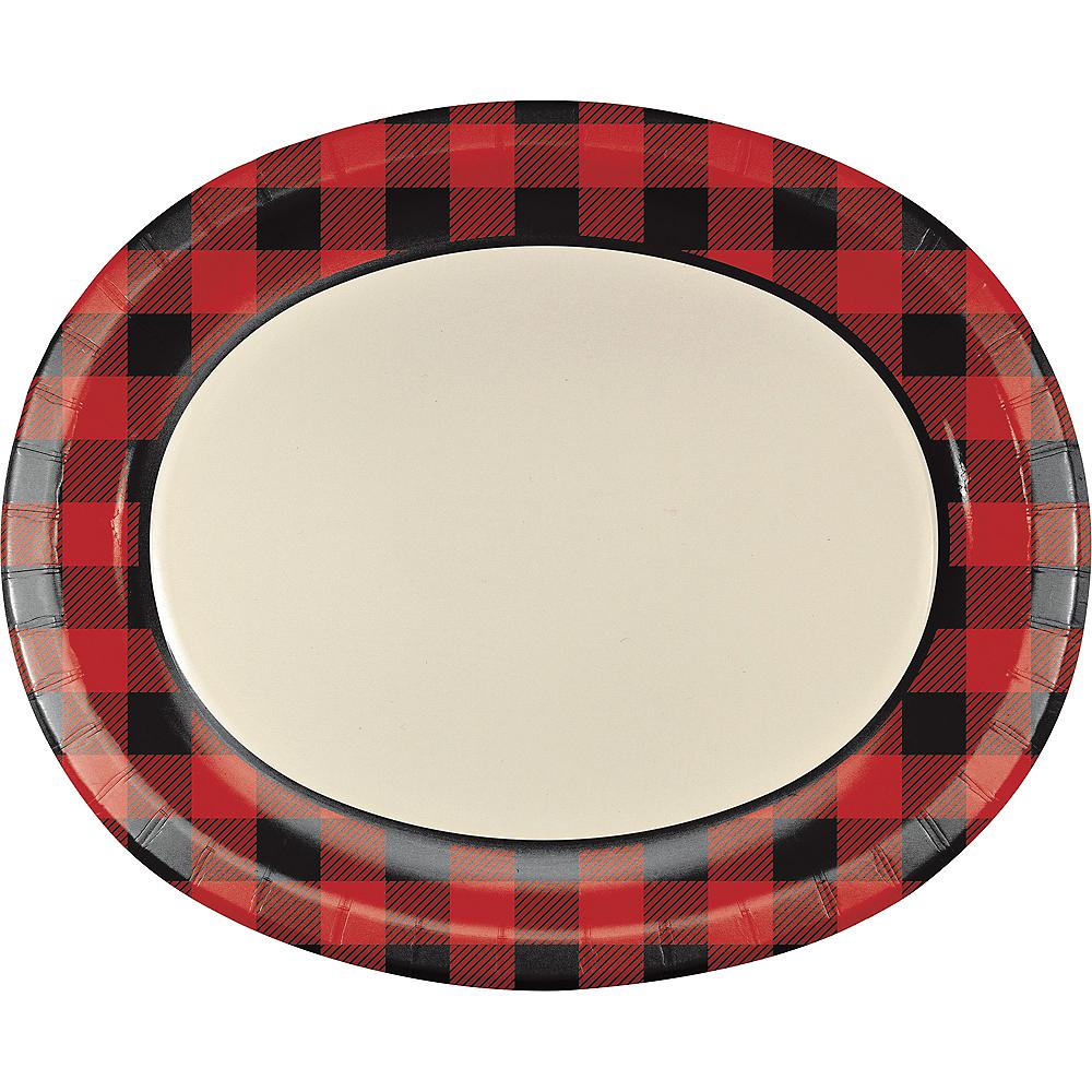 Buffalo Plaid Oval Plates 8ct Image #1