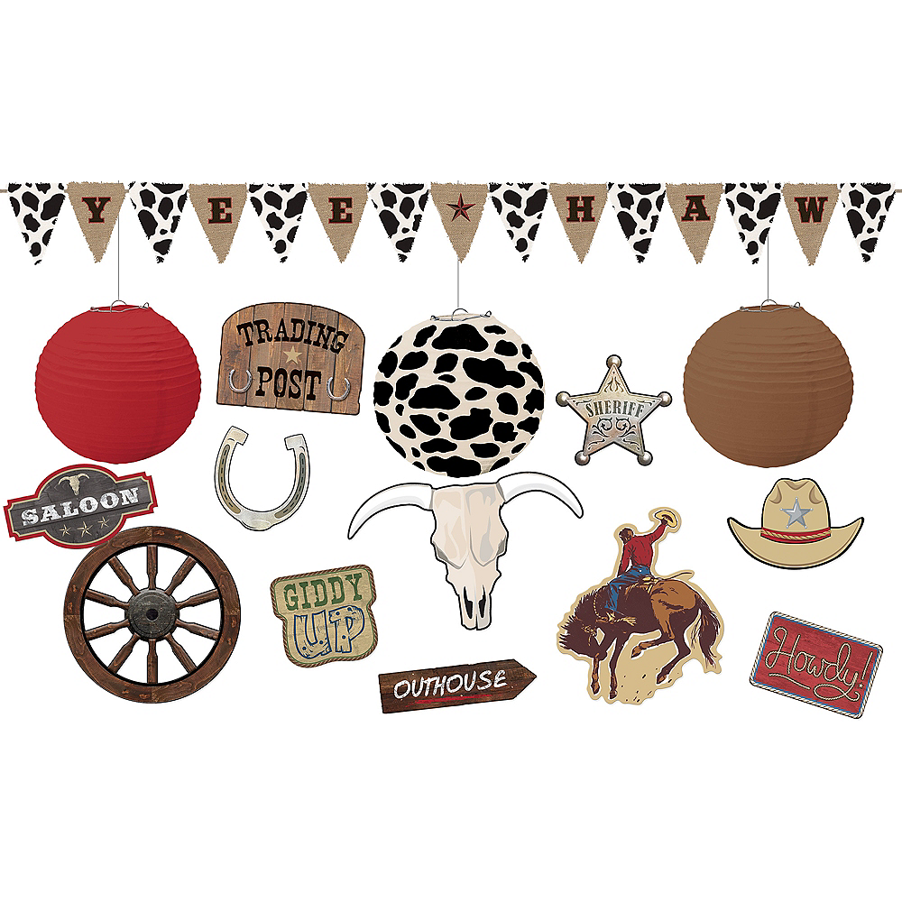 Yeehaw Western Ceiling Decorating Kit Image #1