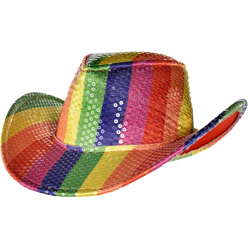 b6dd278ce Sequin Rainbow Cowboy Hat