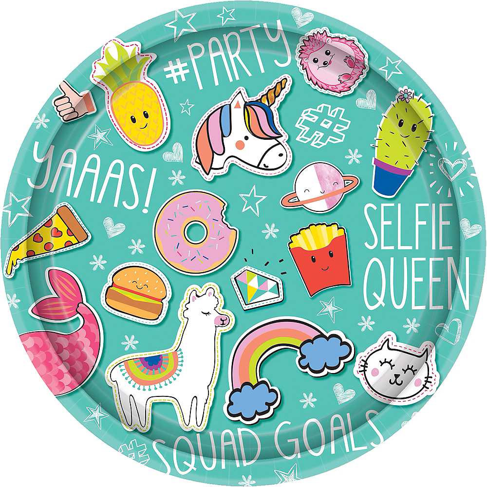 Selfie Celebration Lunch Plates 8ct Image #1
