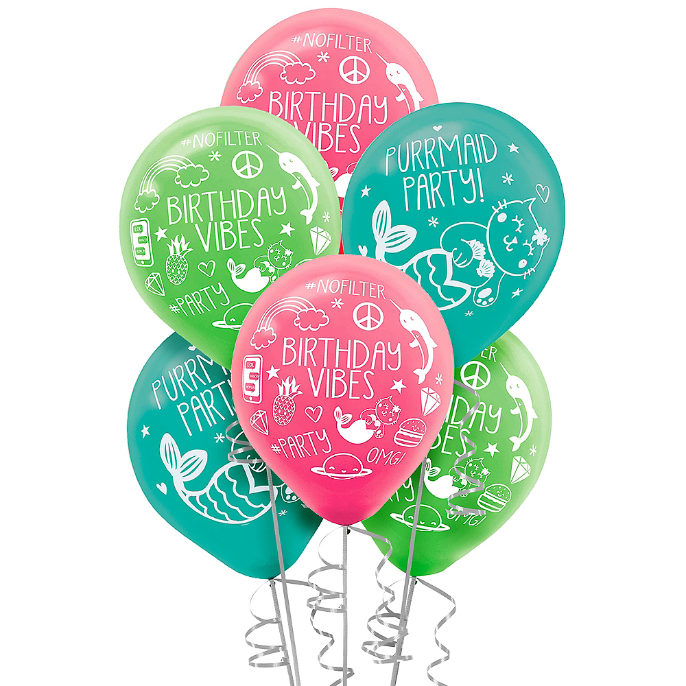 Selfie Celebration Birthday Balloons 6ct