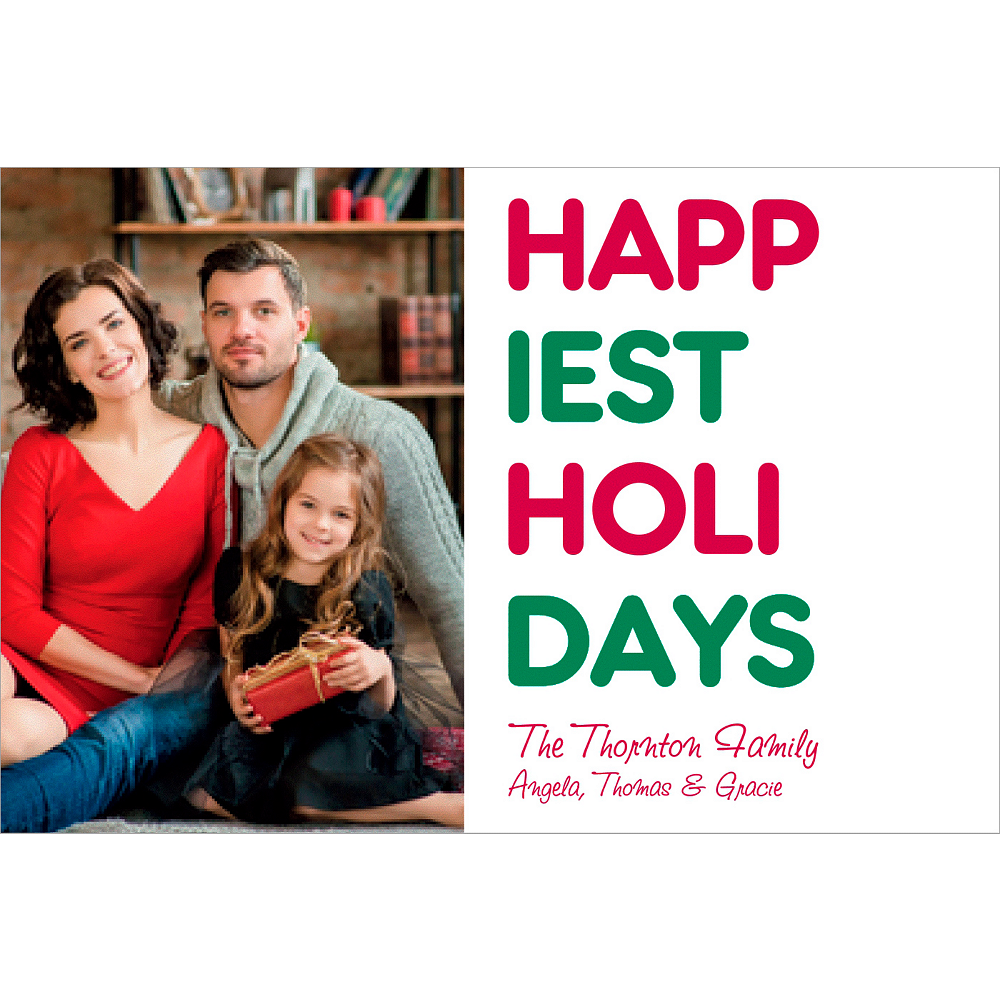 Custom Happiest Holidays Photo Cards Image #1