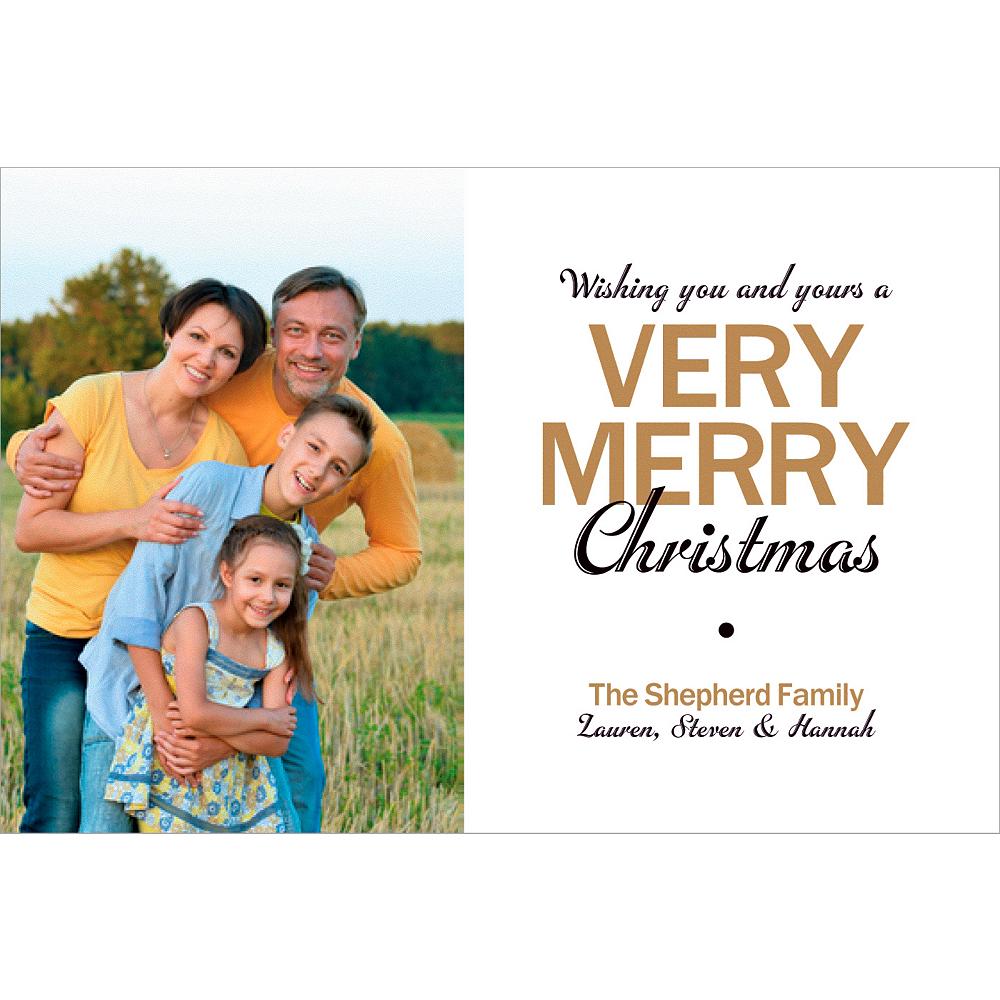 Custom Very Merry Christmas Photo Cards Image #1