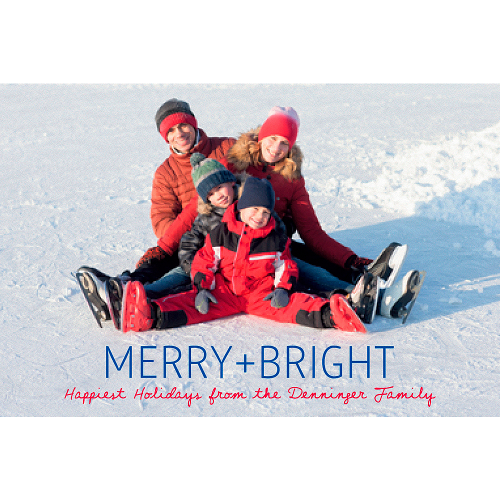 Custom Merry & Bright Photo Cards Image #1