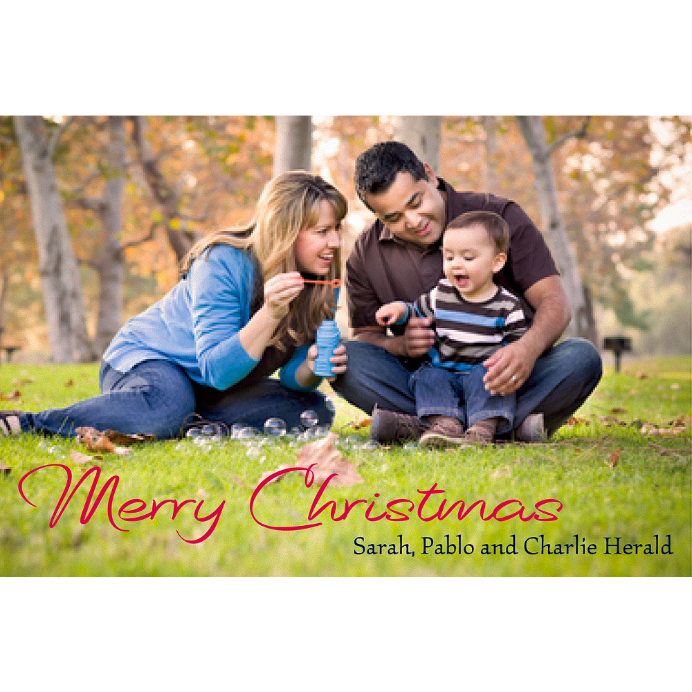 Custom Merry Christmas Classic Photo Cards Image #1
