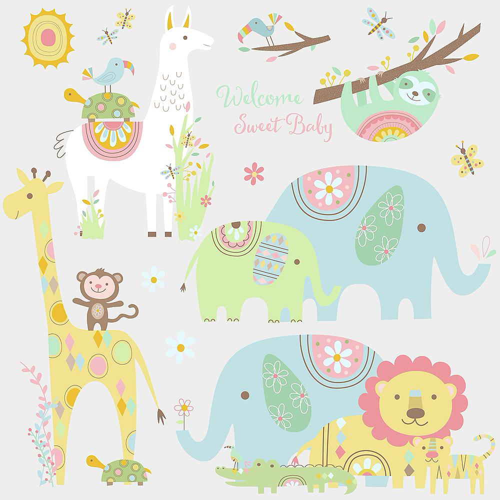 Jungle Animals Wall Decals 15ct Image #2