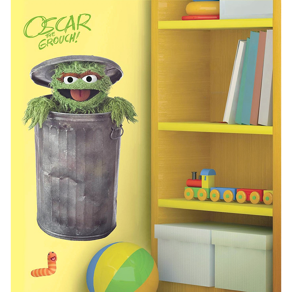 Oscar the Grouch Wall Decals 5pc - Sesame Street Image #1