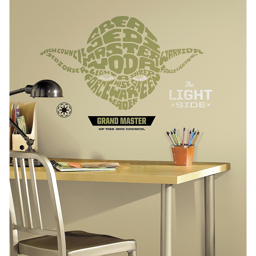 Typographic Yoda Wall Decals 12ct - Star Wars Image #1