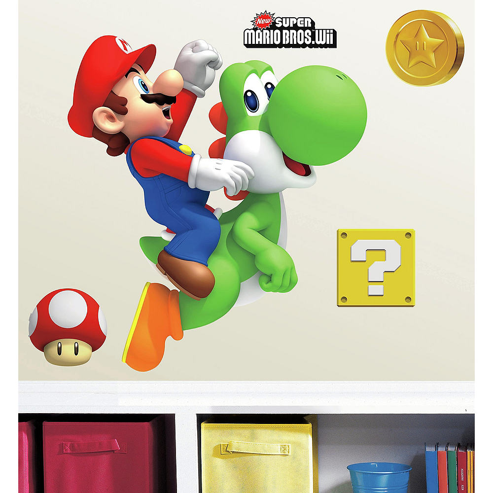 Super Mario Wall Decals 9pc Image #1