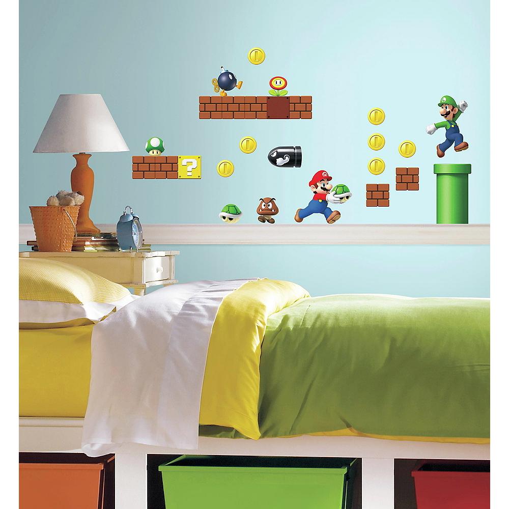 Super Mario Wall Decals 45ct