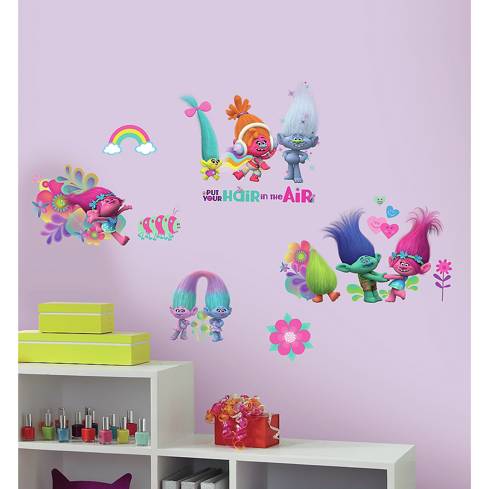 Nav Item for Glitter Trolls Wall Decals 24ct Image #1