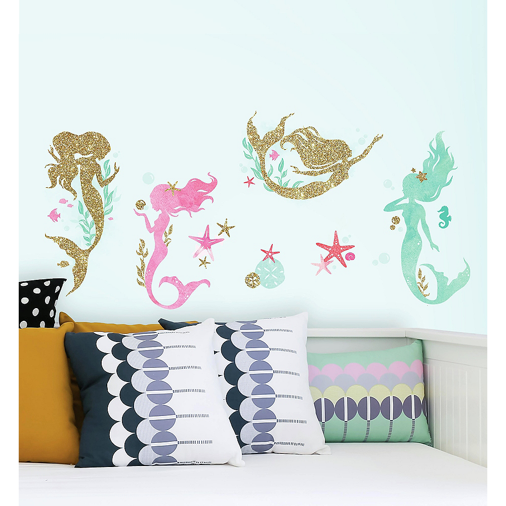 Mermaid Wall Decals 21ct Image #1