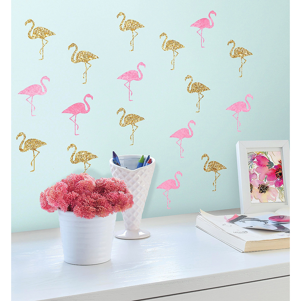 Flamingo Wall Decals 40ct Image #1