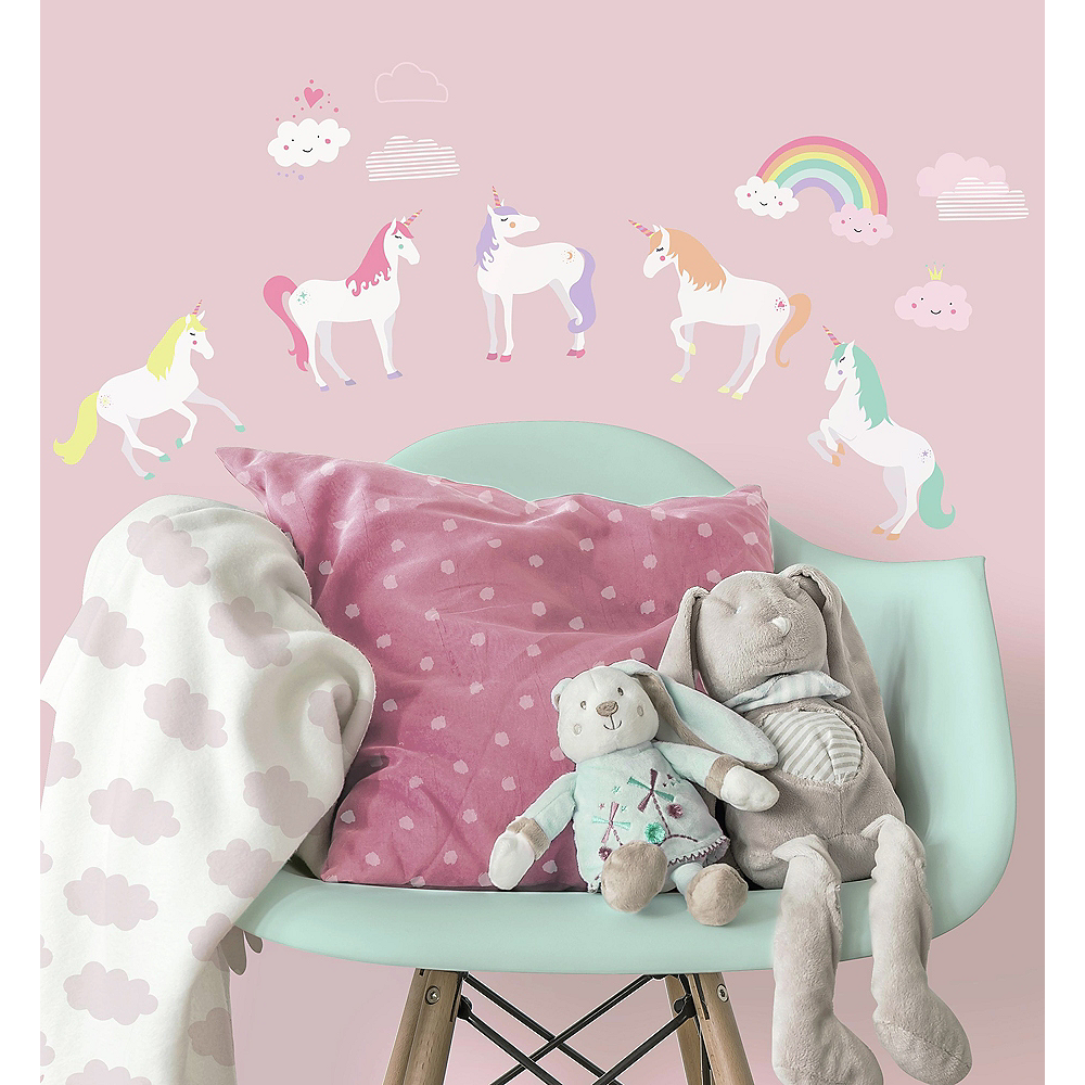 Unicorn Wall Decals 23ct Image #1