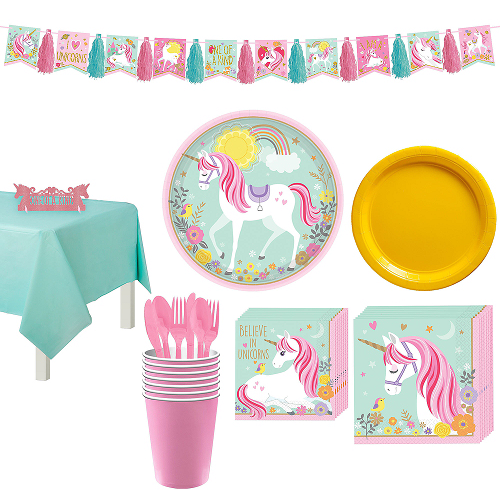 Magical Unicorn Tableware Party Kit for 8 Guests Image #1