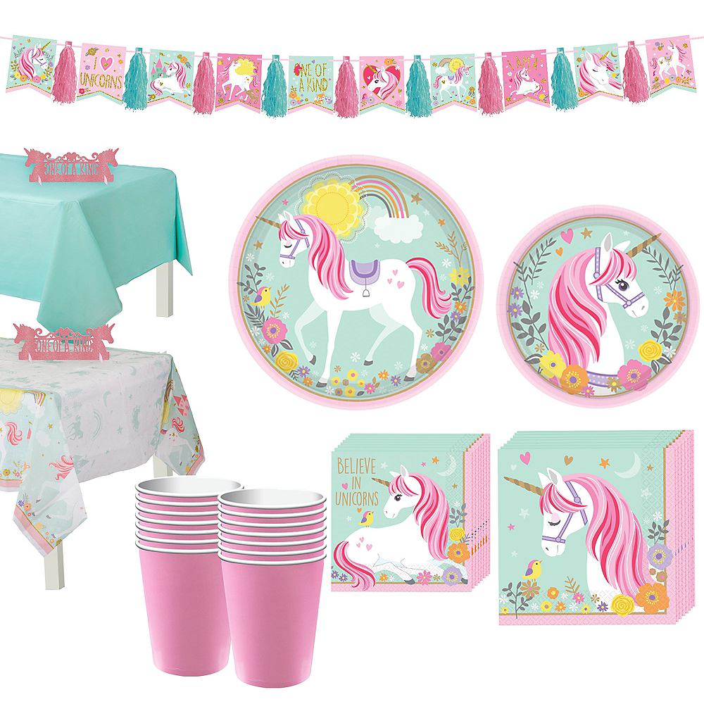 Magical Unicorn Tableware Party Kit for 16 Guests Image #1