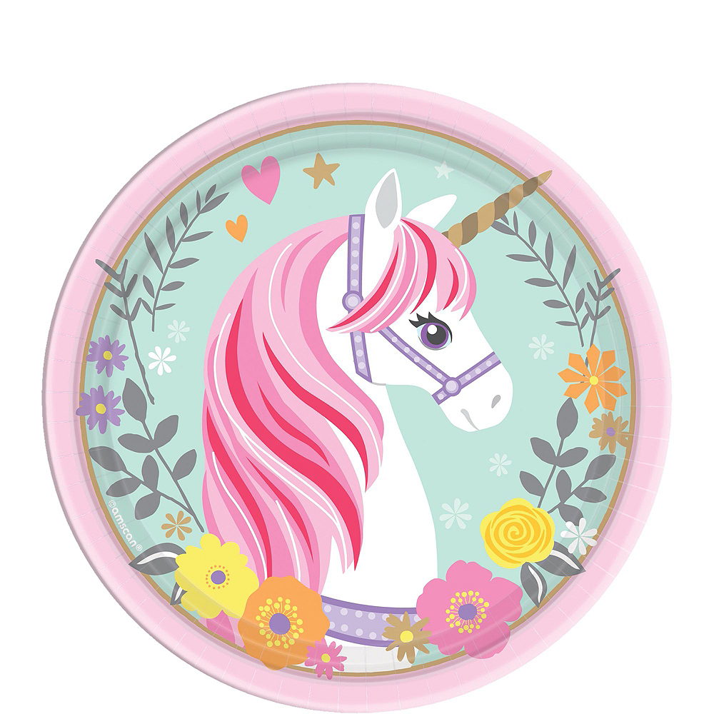 Magical Unicorn Tableware Party Kit for 16 Guests Image #2