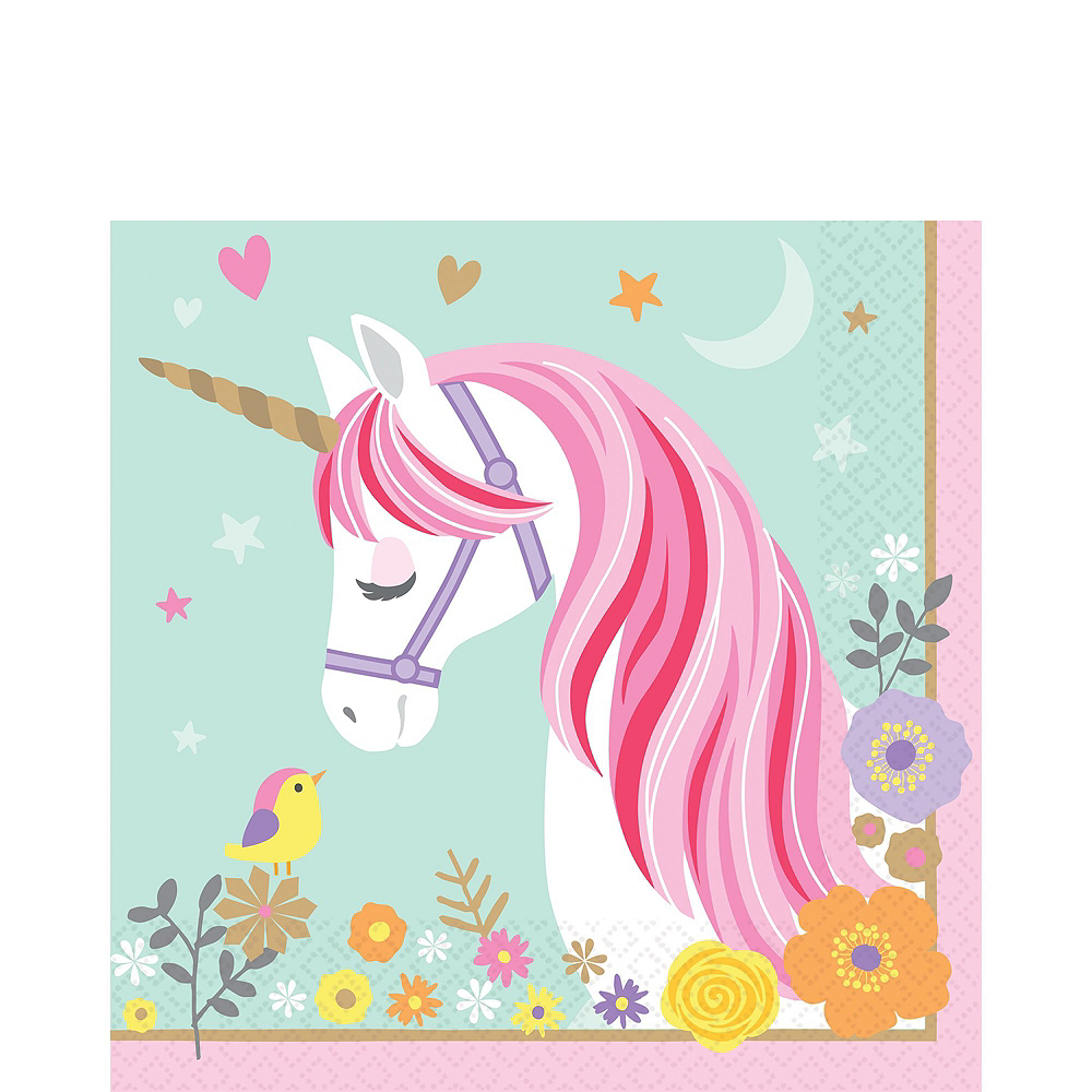 Magical Unicorn Tableware Party Kit for 16 Guests Image #5