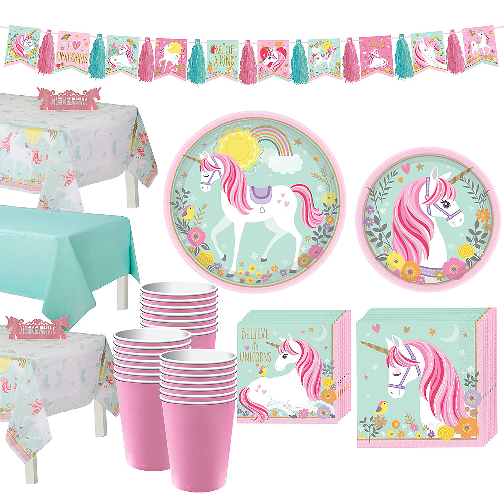 Magical Unicorn Tableware Party Kit for 24 Guests Image #1
