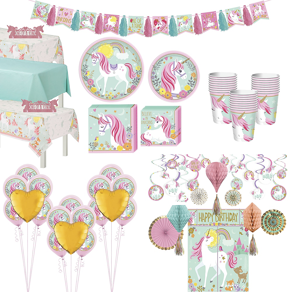 Magical Unicorn Tableware Ultimate Kit for 24 Guests Image #1