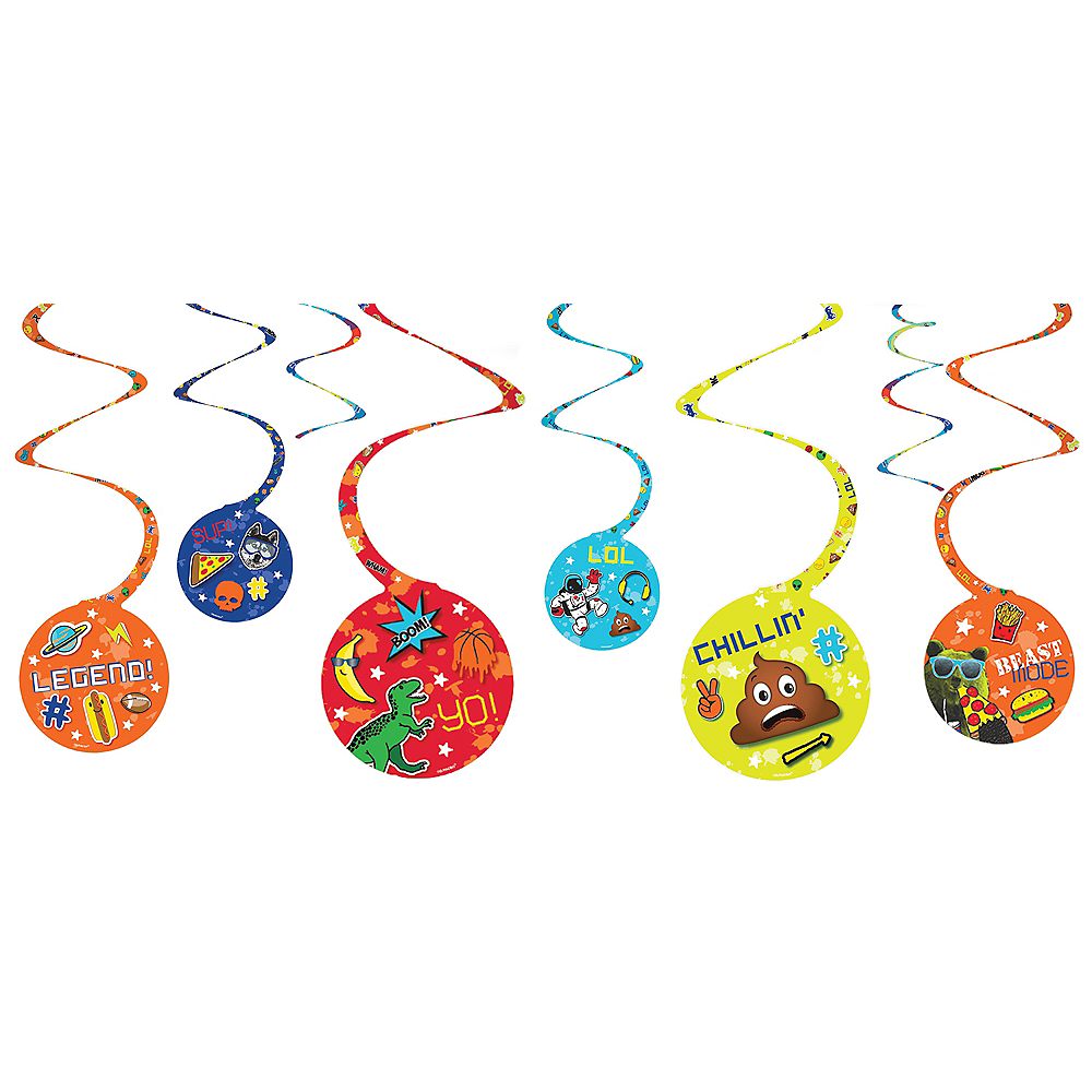 Epic Party Swirl Decorations 8ct Image #1