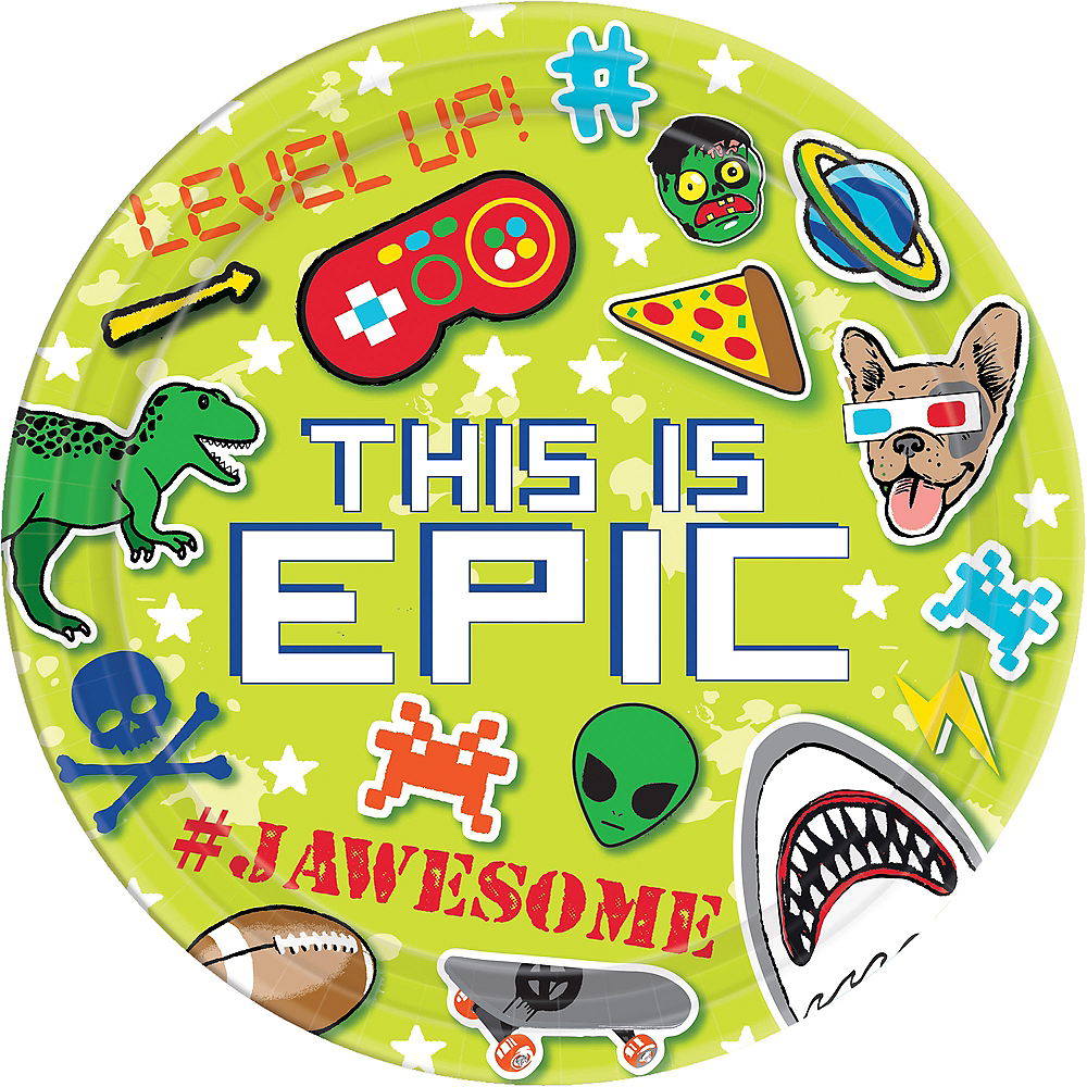 Epic Party Lunch Plates 8ct Image #1