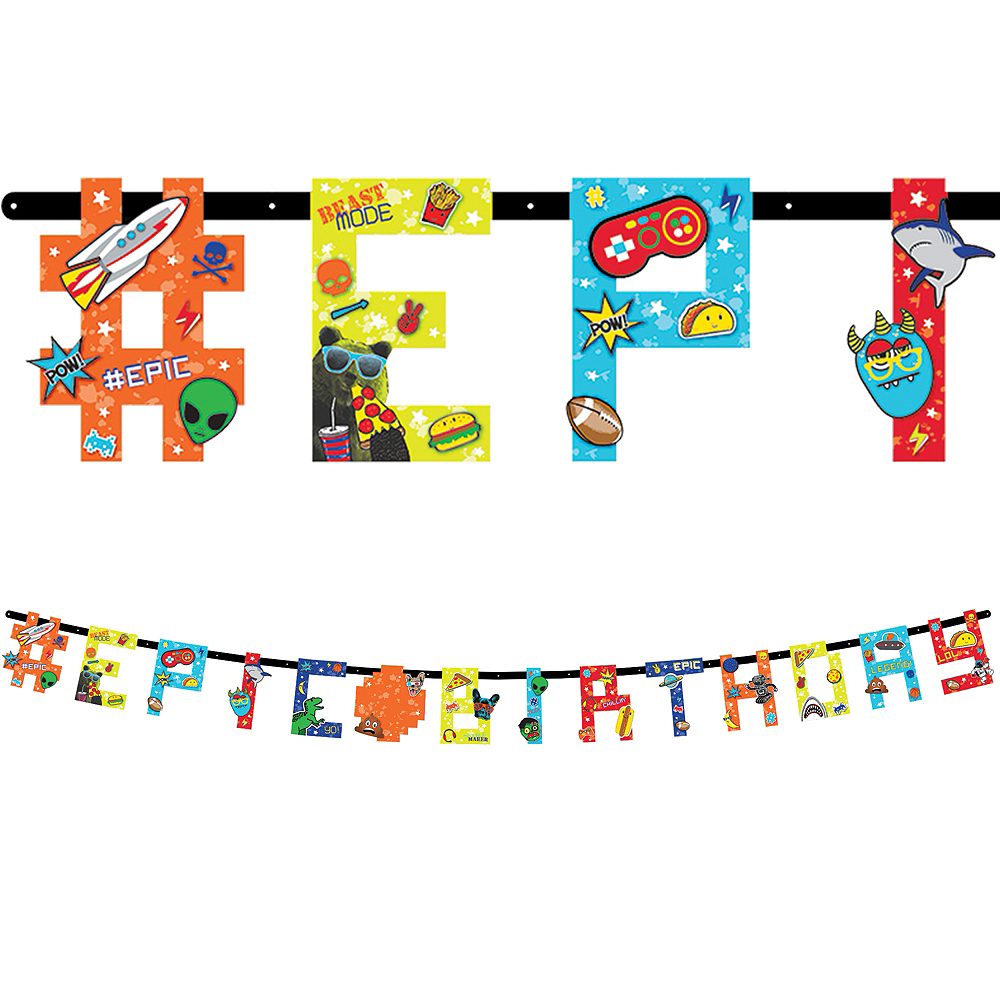 Epic Party Birthday Banner Kit Image #1