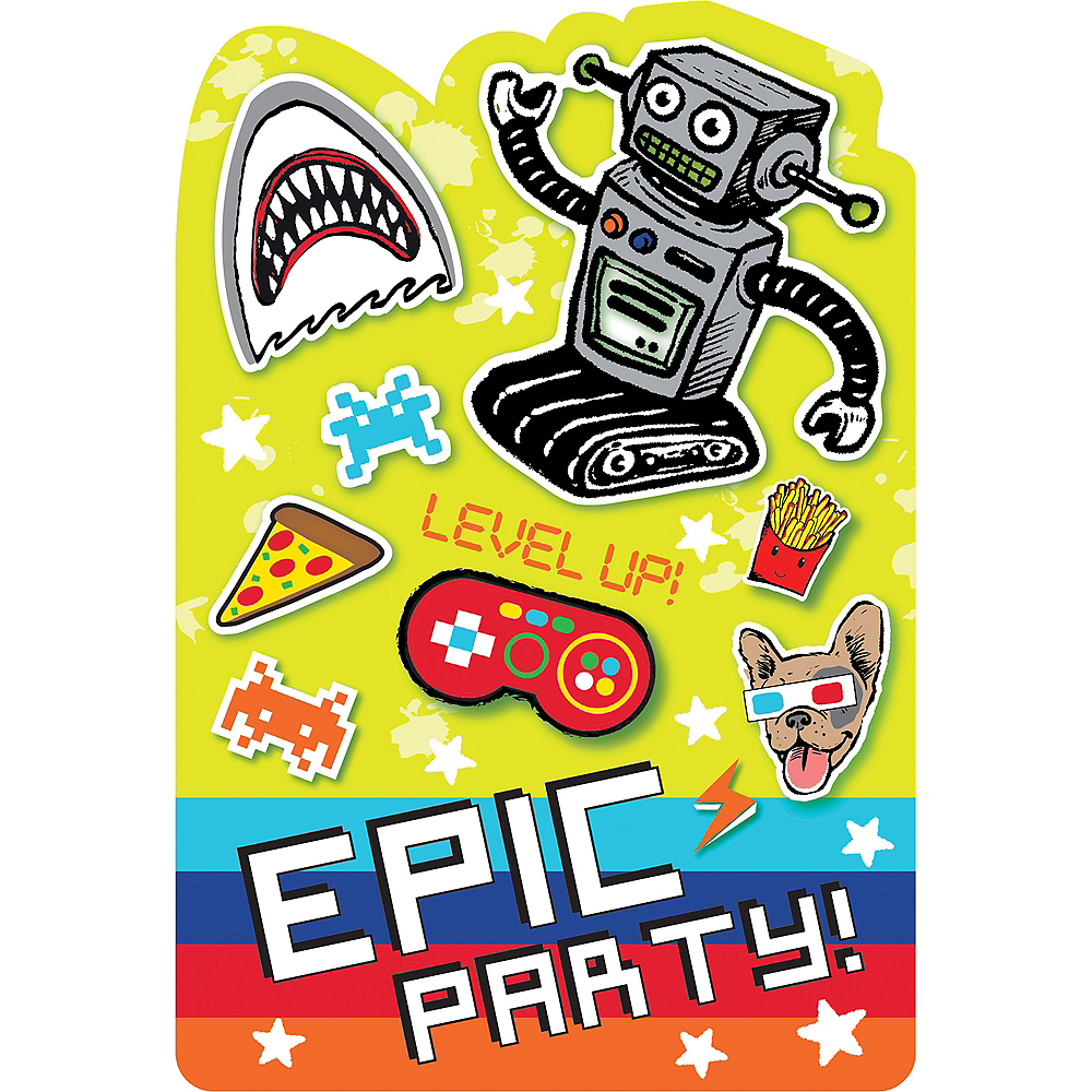 Epic Party Invitations 8ct | Party City