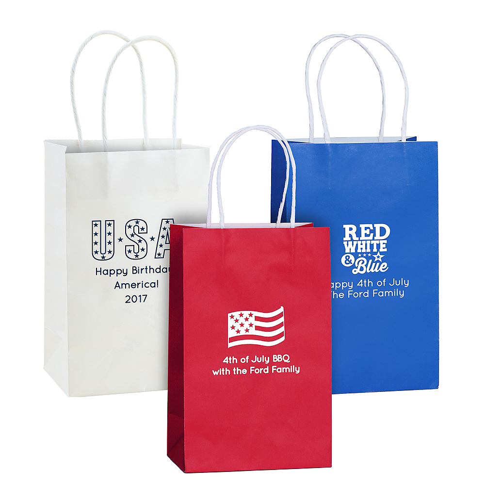 Personalized Medium 4th of July Kraft Bags Image #1