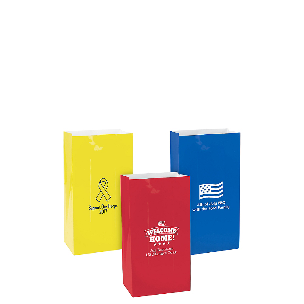 Personalized Mini 4th of July Paper Treat Bags Image #1