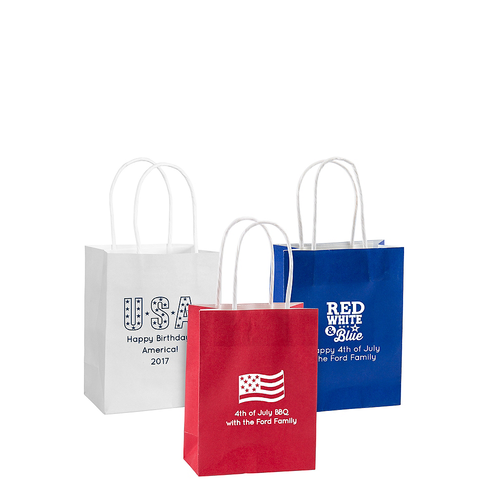 Personalized Small 4th of July Kraft Bags Image #1